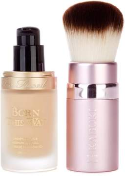 Too Faced Born This Way Foundation & Kabuki Brush - Vanilla