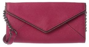 Rebecca Minkoff Cleo Leather Chain Wallet. - PINK - STYLE