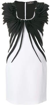Capucci gathered trim mini-dress