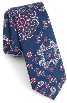Nordstrom Leblanc Paisley Cotton Skinny Tie