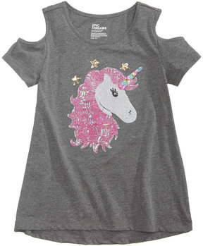 Epic Threads Unicorn Cold-Shoulder Top, Big Girls (7-16), Created for Macy's