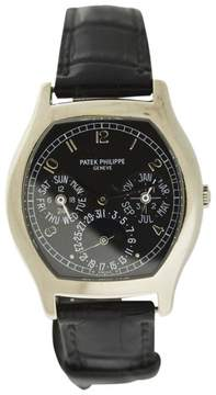 Patek Philippe 5040G 18K White Gold & Leather 35mm Watch