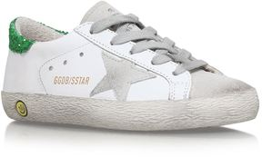 Golden Goose Deluxe Brand Superstar Glitter Trim Sneakers