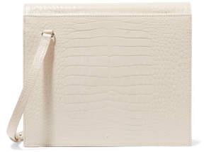 Off-White Gu_de - Edie Croc-effect Leather Shoulder Bag