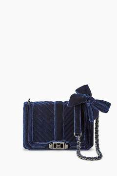 Rebecca Minkoff Velvet Chevron Quilted Small Love Crossbody - RED - STYLE
