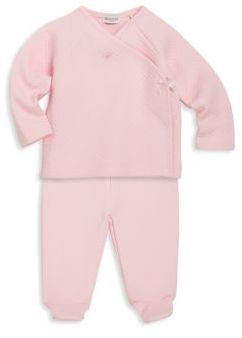 Absorba Baby's Two-Piece Take Me Home Quilted Kimono Top & Footed Pants Set