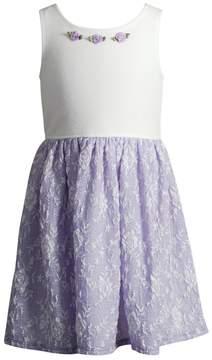 Youngland Toddler Girl Lilac Lace Skirt Dress