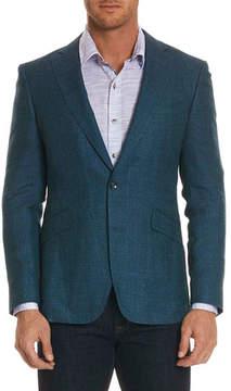 Robert Graham Brennan Textured Mohair-Blend Jacket