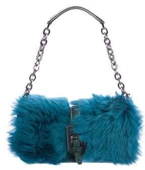 Longchamp Shearling-Trimmed Shoulder Bag