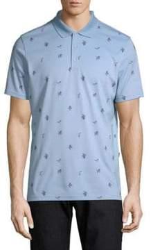 AG Jeans Floral-Print Short-Sleeve Polo
