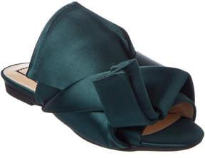 N°21 N21 Satin Flat Bow Mules