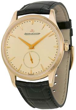 Jaeger-LeCoultre Jaeger Lecoultre Master Grand Ultra Thin Off White Dial 18kt Rose Gold Dark Brown Leather Men's Watch