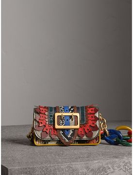 Burberry The Patchwork in Exotics and Punched Leather - YELLOW/PLUM - STYLE