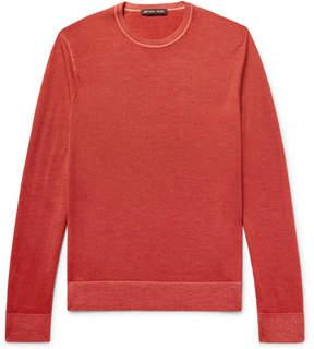 Michael Kors Washed Merino Wool Sweater