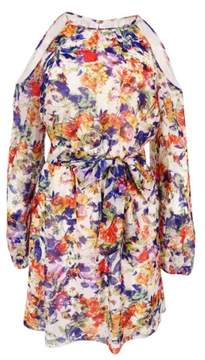 GUESS Women's Fit & Flare Floral-Print Dress (2, Multi)