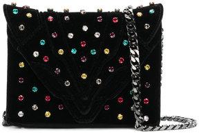 Elena Ghisellini jewel studded crossbody bag