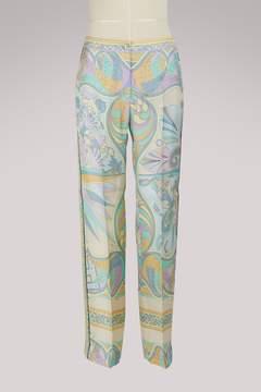 Emilio Pucci Miami silk trousers