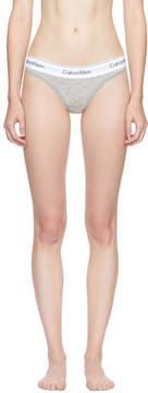 Calvin Klein Underwear Grey Modern Cotton Thong