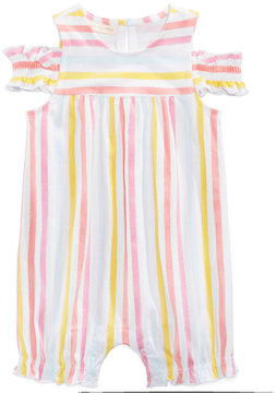 First Impressions Watercolor Striped Romper, Baby Girls (0-24 months), Created for Macy's