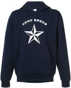 Noon Goons logo and star print hoodie