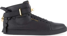 Buscemi Leather mid-top trainers