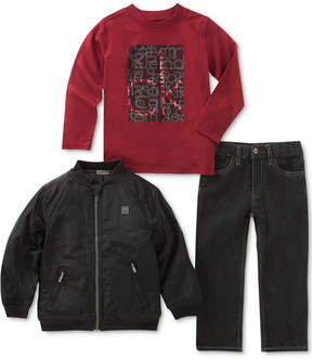 Calvin Klein 3-Pc. Jacket, T-Shirt & Jeans Set, Baby Boys (0-24 months)