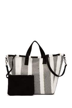 Steve Madden Mixed Straw Tote Bag