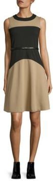 Calvin Klein Colorblocked Fit and Flare Dress