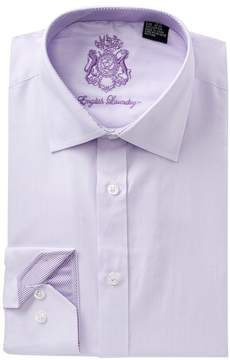 English Laundry Solid Herringbone Dress Shirt