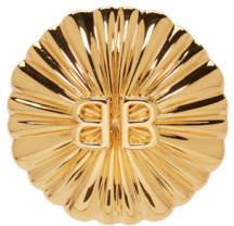 Balenciaga Gold Round BB Clip-On Earcuff
