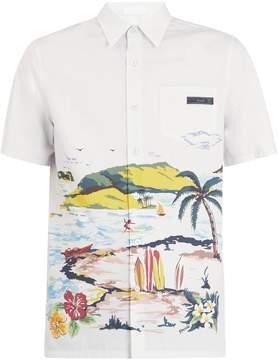 Prada Hawaiian-print cotton shirt