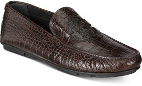 Roberto Cavalli Men's Embossed Crest Drivers Men's Shoes