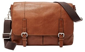 Fossil Men's 'Graham' Leather Messenger Bag - Metallic