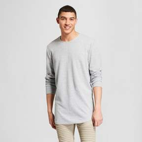 Jackson Men's Long Sleeve Center Seam Curved Hem T-Shirt Heather Gray
