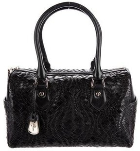 Cole Haan Woven Leather Bowler Bag