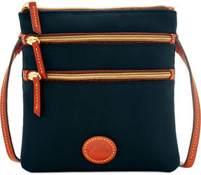 Dooney & Bourke North South Triple Zip Nylon Crossbody - BLACK - STYLE