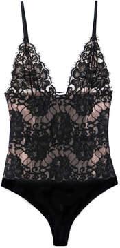 Fleur Du Mal Lace Bodysuit in Black, X-Small