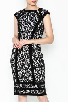 Joseph Ribkoff Lace Overlay Dress