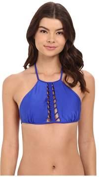 Luli Fama Kiss The Wave Strings to Braid Halter Top Women's Swimwear