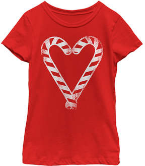 Fifth Sun Red Candy Heart Tee - Girls