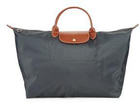 Longchamp Two-tone Zippered Handbag - GREY - STYLE