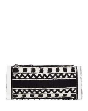 Edie Parker Soft Lara Embroidered Clutch Bag, Black Multi