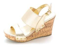 Material Girl Womens Mmona1 Open Toe Special Occasion Platform Sandals.