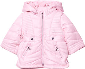 Mayoral Pink Hooded Puffer Coat
