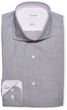 Isaac Mizrahi Textured Slim Fit Dress Shirt