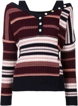 Derek Lam 10 Crosby striped knitted top