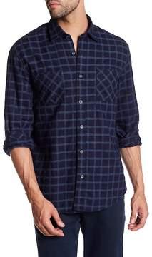 James Campbell Destino Windowpane Long Sleeve Regular Fit Shirt