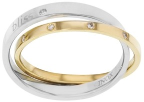 Damiani Bliss by Twoyou 18k Yellow Gold & Stainless Steel 0.11 Ct Diamond Ring