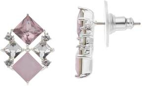 Brilliance+ Brilliance Silver Plated Geometric Drop Earrings with Swarovski Crystals