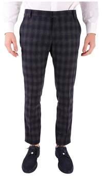 Entre Amis Men's Grey/black Wool Pants.